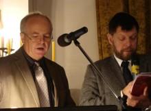 Haiko Wartenberg (po lewej) i tłumacz konferencji Krysztof Rumiński